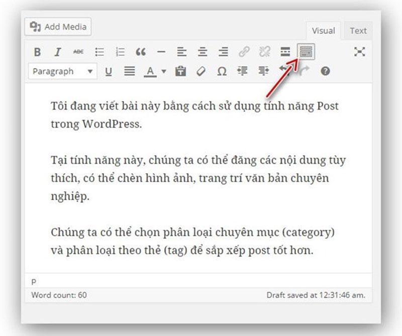 cách mở thêm dụng cụ hỗ trợ soạn thảo