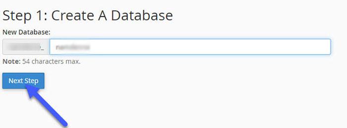 tạo database trên cpanel hosting